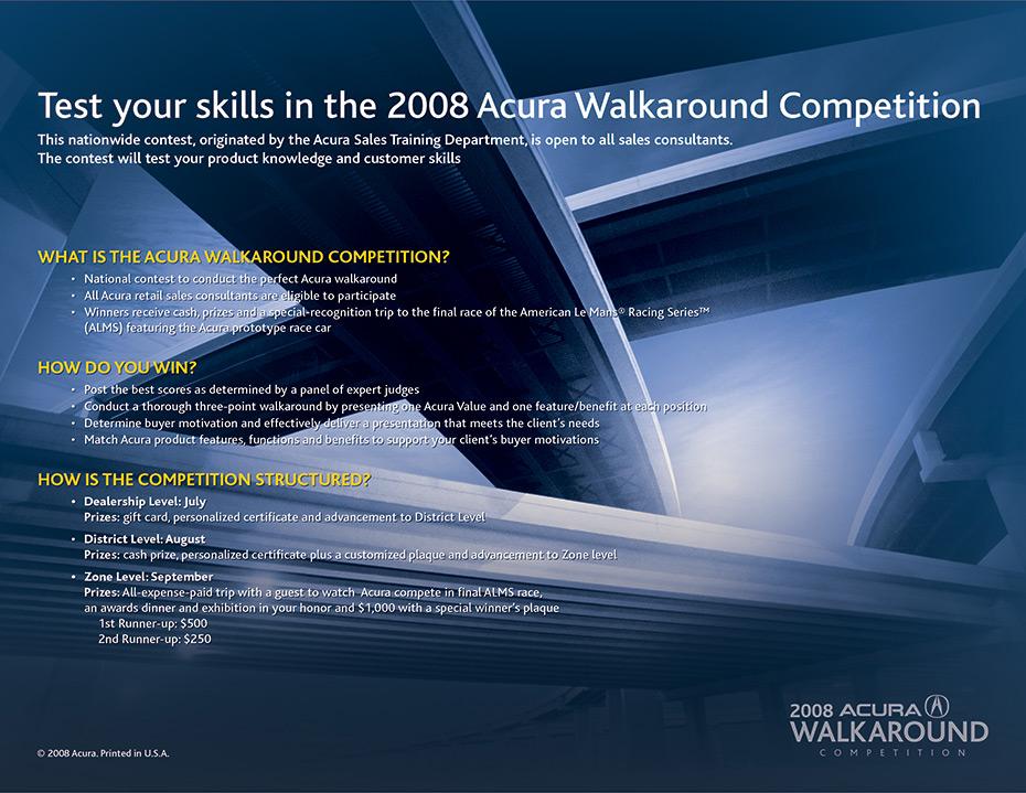 Acura Walkaround Competition