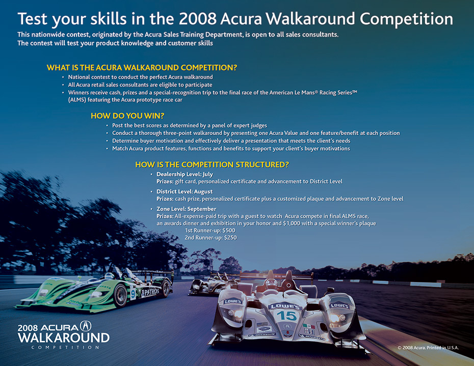 Acura Walkaround Competition