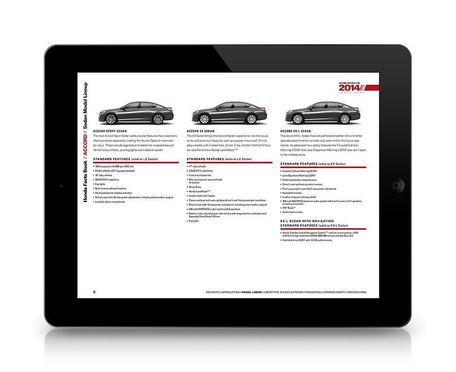 Honda Facts Book for iPad
