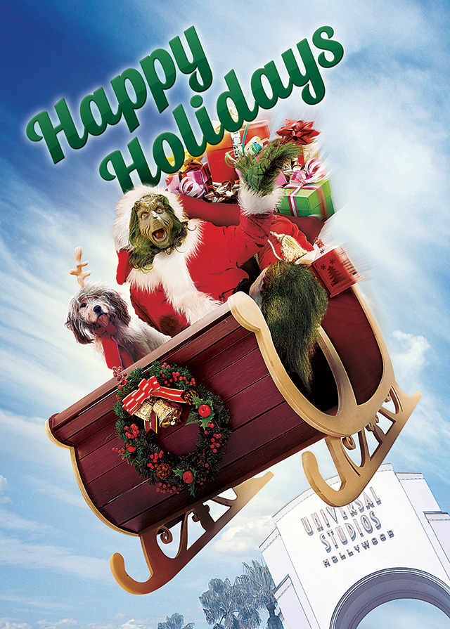 Universal Studios Hollywood Holiday Card